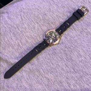 Coach black silicone watch